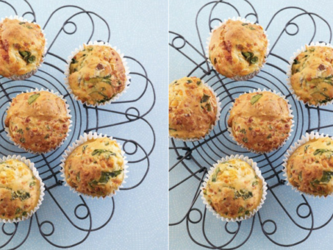 Hummingbird Spinach & Cheese Muffins